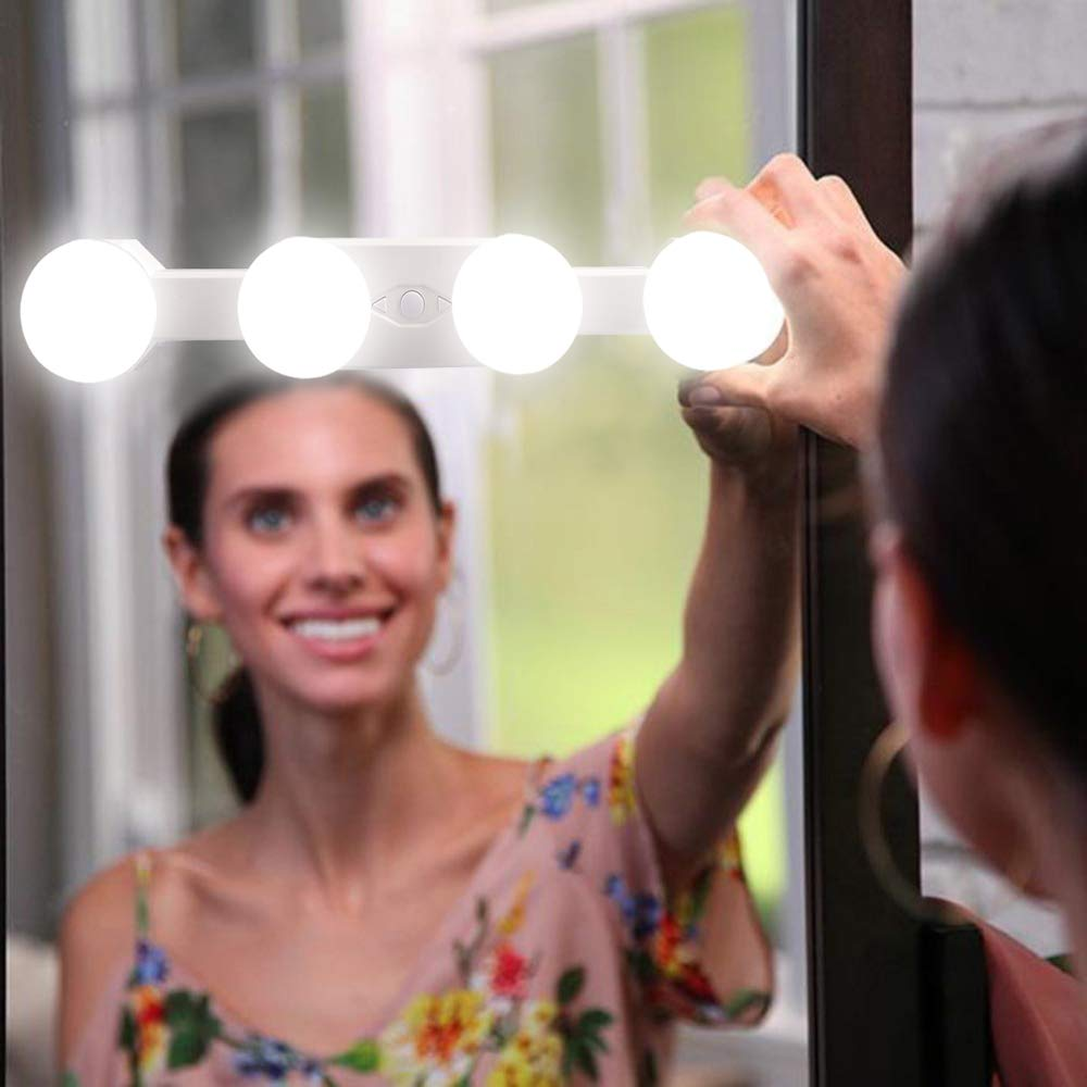 Vanity Mirror Lights,Assemer [Updated] Cordless Rechargeable and Brightness Color temperature Adjusta Makeup Mirror Lights Hollywood Styles Led Vanity Mirror Light Kit for Makeup Dressing Table Lights