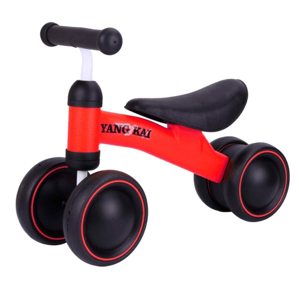赤ちゃんのバランスバイク歩くことを学ぶバランス感覚なしフットペダル乗馬おもちゃ子供のための赤ちゃん幼児1-3年  Red B07PH6H1FG