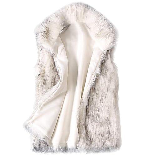 Beladla Chaleco Mujer Invierno Abrigos De SeñOras Elegantes Abrigo Suave Y Esponjoso De Piel SintéTica Sudadera Jersey SuéTer: Amazon.es: Ropa y accesorios