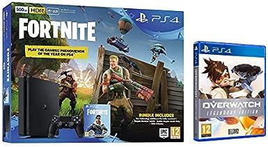Sony PS4 500GB Fortnite & Royal Bomber Pack + Overwatch Legendary Edition [Importación inglesa]: Amazon.es: Videojuegos