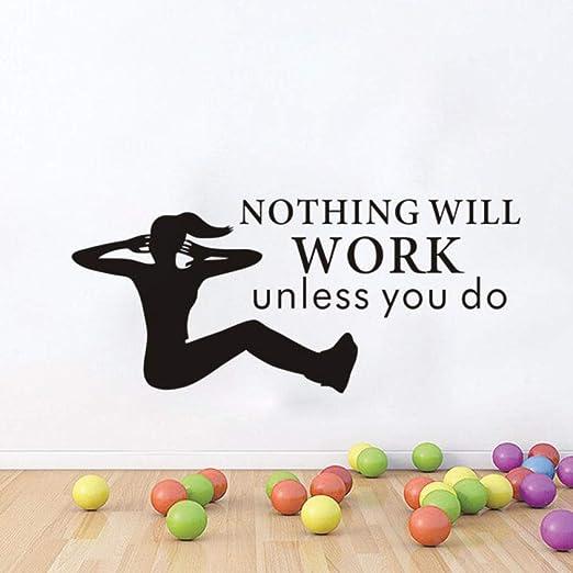 Modeganqingg Yoga Deportes vinilos Adhesivos Desmontables ...