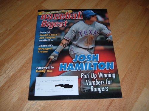 Josh Hamilton, Texas Rangers, Baseball Digest, September/October 2010 issue.
