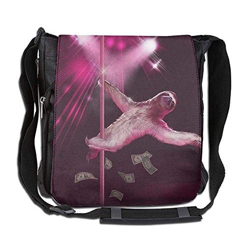 - Sexy Funny Pole Dancing Stripper Sloth Fashion Print Diagonal Single Shoulder Bag