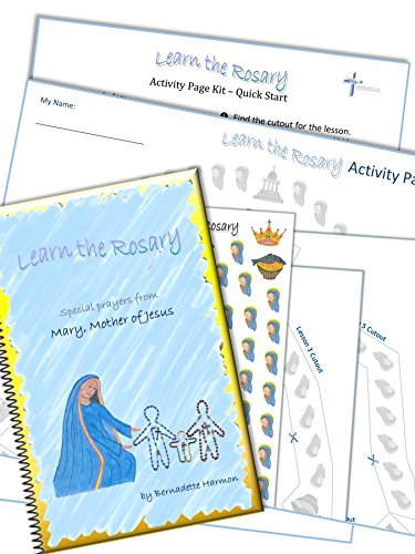 Pray_Every_Day Children's Rosary Guide with Stickers - First Holy Communion Gift