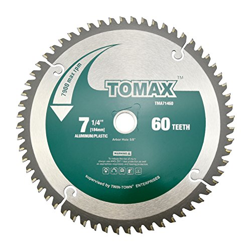 Arbor 60 Teeth 5/8 (TOMAX 7-1/4-Inch 60 Tooth TCG Aluminum and Non-Ferrous Metal Saw Blade with 5/8-Inch DMK Arbor)