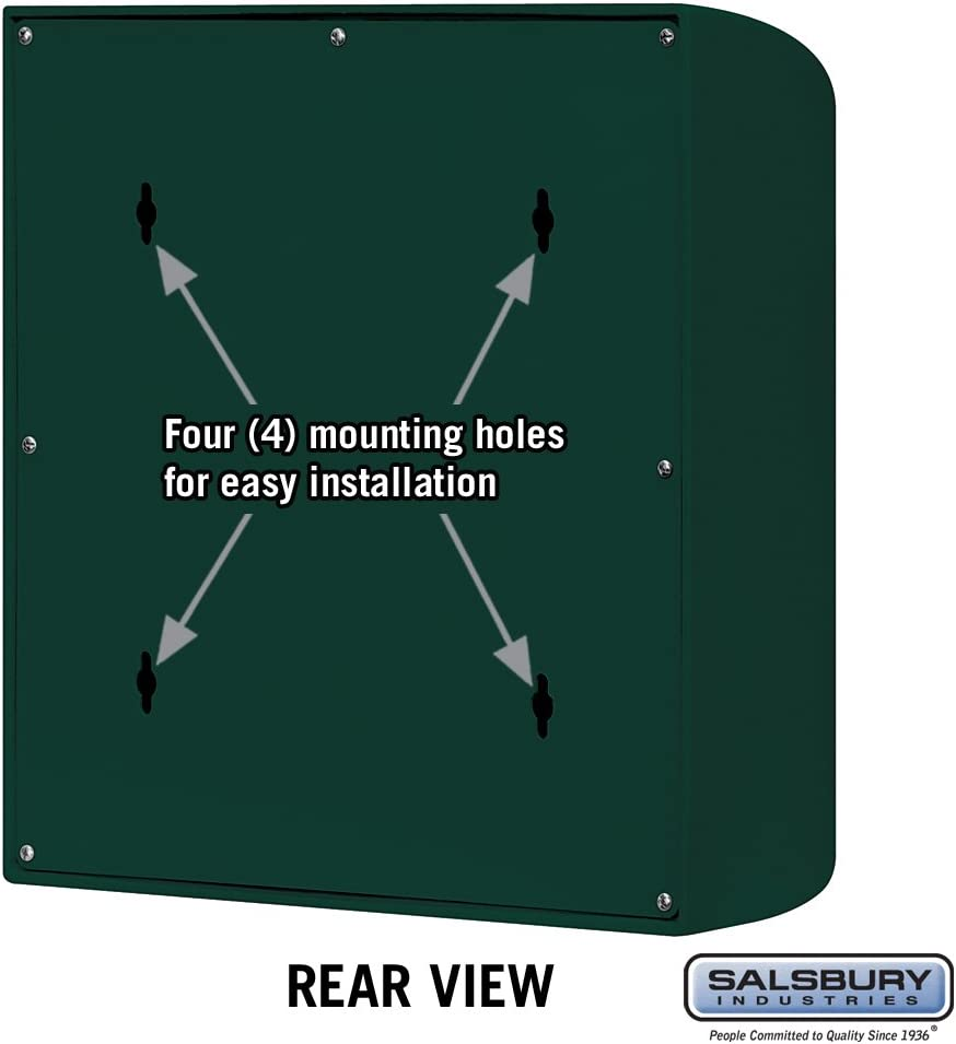 Black Salsbury Industries 4150E-BLK Eagle Door Modern Mailbox