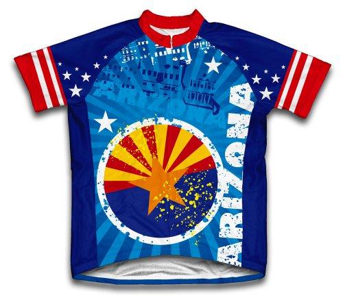 ScudoPro Arizona Short Sleeve Cycling Jersey for Men - Size L Blue (Jersey Cycling Arizona)