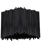Black Plastic Stirring Straws - Coffee Cocktail Sipping Stirrers - Drink Stir Sticks For Bars Cafes Restaurants Home Use (2000, 7.5 Inches)