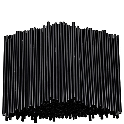 Black Plastic Stirring Straws - Coffee Cocktail Sipping Stirrers - Drink Stir Sticks For Bars Cafes Restaurants Home Use (2000, 7.5 Inches) by eDayDeal