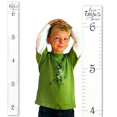 Growth Chart Art | Hanging Wooden Height Growth Chart to Measure Children -