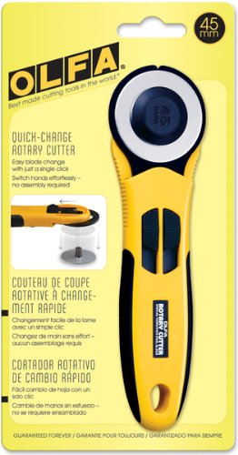 Olfa Quick Change Rotary Cutter -45mm 1 pcs sku# 643863MA by OLFA
