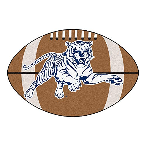 NCAA Jackson State University Tigers Football Shaped Mat Area Rug