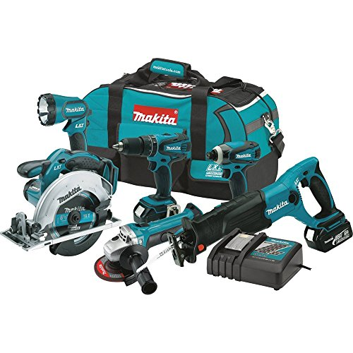 Makita XT601 18-volt LXT Lithium-Ion Cordless Combo Kit, 6-Piece- Discontinued by Manufacturer (Discontinued by Manufacturer)