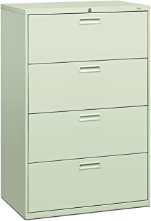 product image for HON 584LQ 500 Series 36 by 53-1/4 by 19-1/4-Inch 4-Drawer Lateral File, Light Gray
