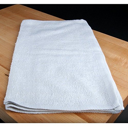 GHP 240-Pcs 16''x19'' White 100% Cotton Gym Salon Hotel Restaurant Cleaning Towels by Globe House Products