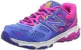 New Balance Unisex Kids' KR680NPY-680 Training Running Shoes, Multicolor (Blue/Pink 437), 4 UK 37 EU