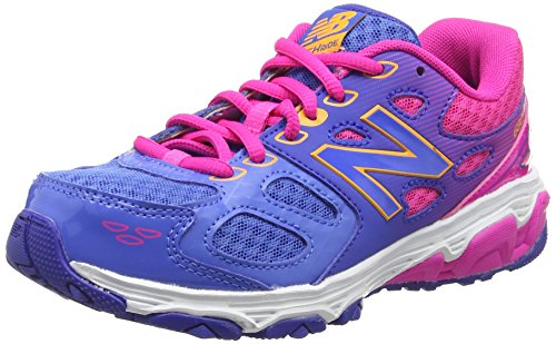 New Balance Kr680npy-680, Zapatillas de Running Unisex Niños Multicolor (Blue/Pink 437)