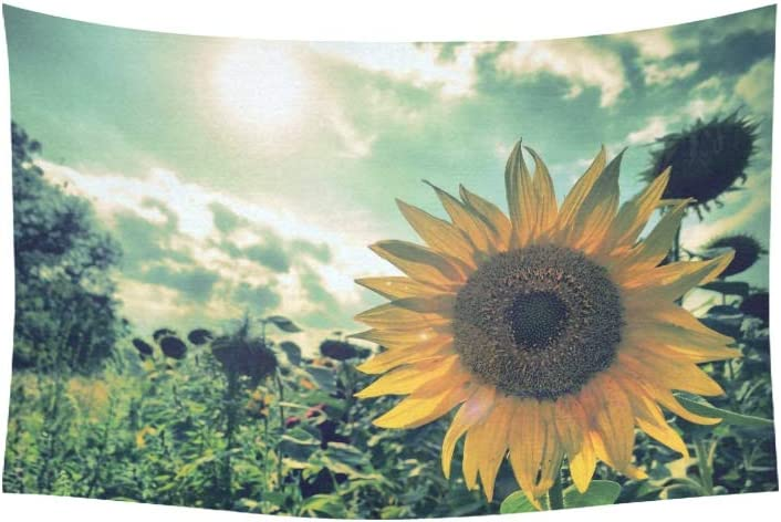 Amazon Com Yswpna Tapestry Sunflower Photography Tumblr Wallpapers Hd Resolut Tapestries Wall Hanging Flower Psychedelic Tapestry Wall Hanging Indian Dorm Decor For Living Room Bedroom 60 X 40 Inch Home Kitchen