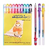 Sakura Pgb10c51 Aqualip 10-piece Gelly Roll Blister Card Gel Ink Pen Set, Fine Point 0.6mm, Assorted Colors