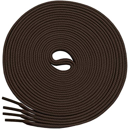 Shoe Sport Flat Brown (Miscly Flat Shoelaces [3 Pairs] 5/16