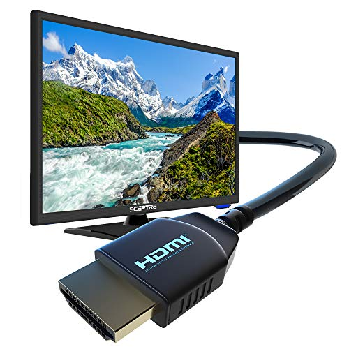 "Sceptre 24"" 1080p Full HD LED HDTV 1920x1080 ATSC MHL HDMI VGA USB, Machine Black 2020"