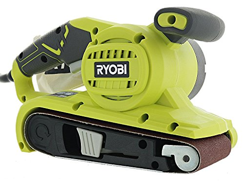 Ryobi BE319 6 Amp Portable 320 Feet Minute Corded Belt Sander 3 x 18 w Onboard Removable Dust Bag Medium Grit Sanding Belt Included
