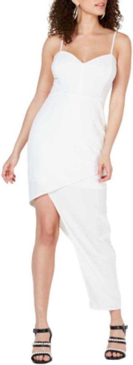 فستان ضيق بتنورة متناسقة للفتيات الصغار من Material Girl باللون الأبيض، مقاس XS