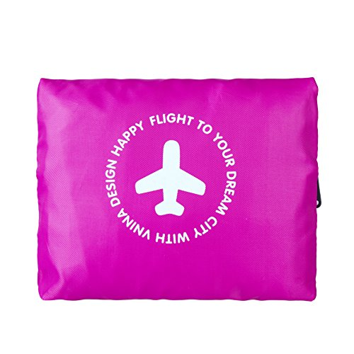 Vnina Foldable Travel Duffel Bag 32L Waterproof Lightweight Sport Gym Luggage Bag for Men Women (red)