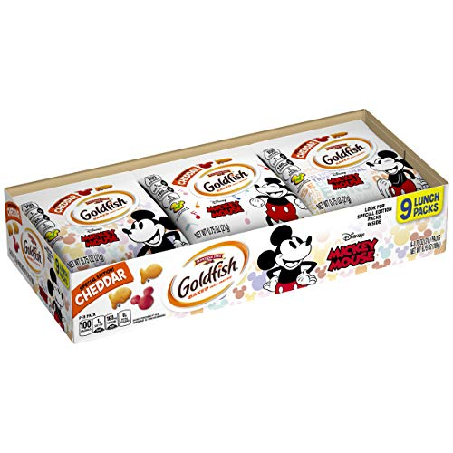 (Pepperidge Farm Goldfish Special Edition Disney Mickey Mouse, Cheddar Crackers, 6.75 oz, 9 count)