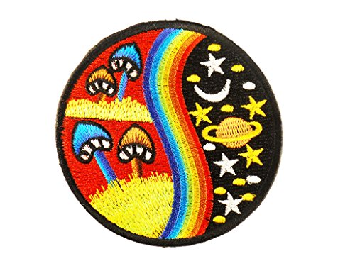 Mushroom Hippie Iron-on Patch (Vest Robin)