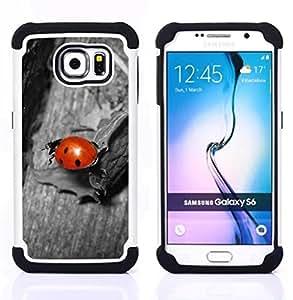 Pulsar ( Coccinelle Gris ) Samsung Galaxy S6 / SM-G920 SM-G920 híbrida Heavy Duty Impact pesado deber de protección a los choques caso Carcasa de parachoques