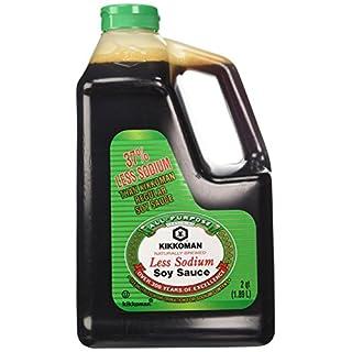 Kikkoman Less Sodium Soy Sauce, 2 Qt Bottle. (Pack of 1)