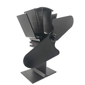 ZPL Ventilador para Estufa de leña de Gran Potencia, Accesorios para Chimenea de 2 Cuchillas