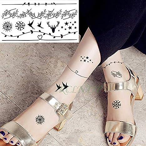 5pcs Impermeable del Tatuaje Pegatinas Hoja de Aves del Copo de ...