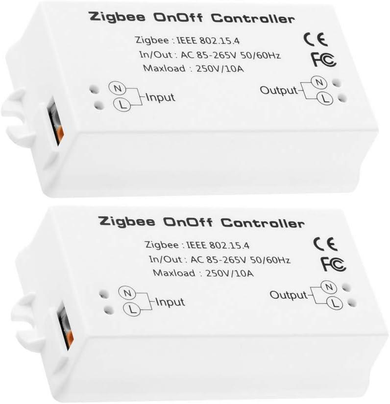 [2 Pieces]Zigbee Home Smart Controller,Zigbee Smart Switch,Compatible with Amazon Echo Plus Alexa, and Smart Things Hub APP & Voice Controlled