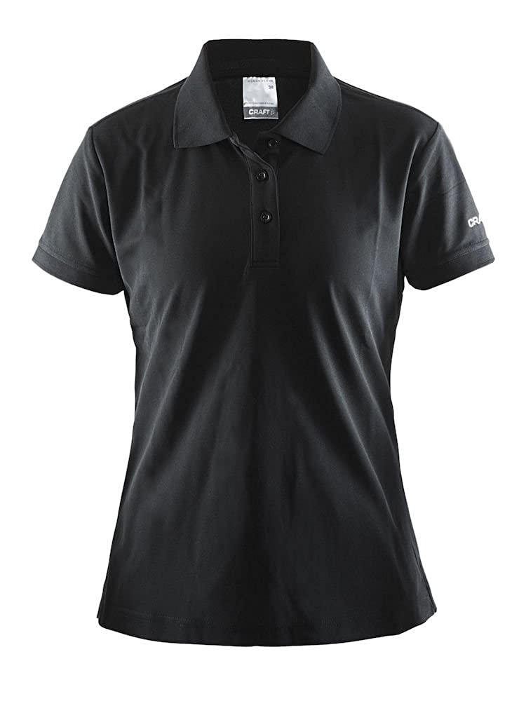 Black - S Craft 2018 Womens Pique Classic Polo Shirt 192467