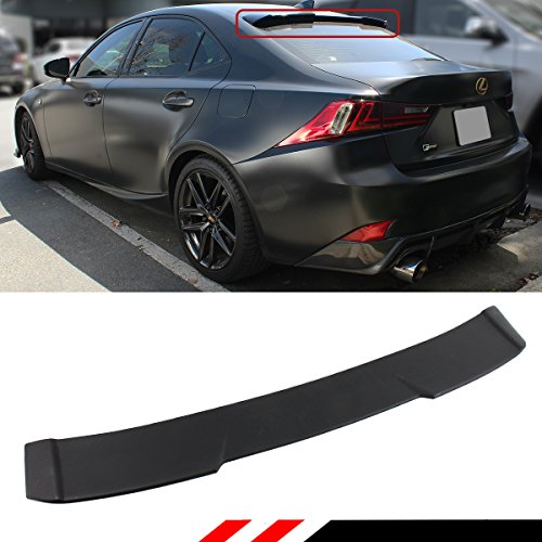 Cuztom Tuning R STYLE HIGH KICK REAR WINDOW ROOF SPOILER WING FOR 2014-2018 LEXUS IS200t IS300 IS250 (Lexus Is300 Spoilers)