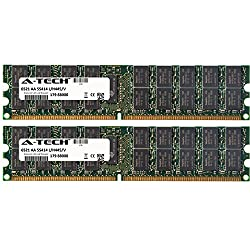 2GB KIT (2 x 1GB) For Tyan TN Server Series TN68B4989 (B4989T68W8HR). DIMM DDR2 ECC Registered PC2-6400 800MHz RAM Memory. Genuine A-Tech Brand.