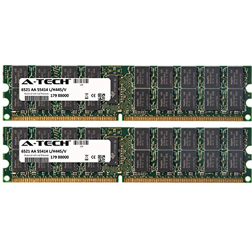 8GB KIT (2 x 4GB) for Dell PowerEdge Series 1800 1850 1855 2800 2850 6800 6850 SC1425. DIMM DDR2 ECC Registered PC2-3200 400MHz Single Rank RAM Memory. Genuine A-Tech Brand.