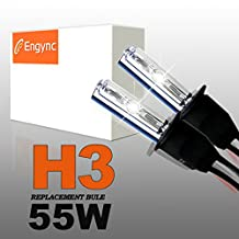 Engync® 55W H3 Xenon HID Replacement Bulbs | Hi/Low 6000K Diamond White Color