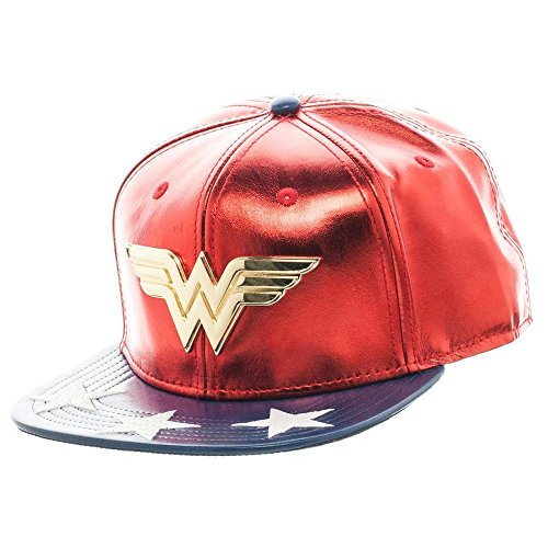 DC SB3BC0DCO Comics Wonder Woman Logo Suit Snapback Cap (One Size) -