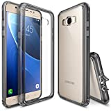 Galaxy J7 Case, Ringke [FUSION] Shock Absorption TPU Bumper Drop Protection Clear Hard Case for Samsung Galaxy J7 2016 - Crystal View