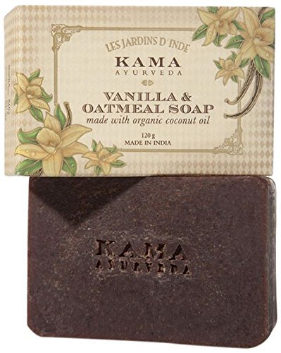 Kama Ayurveda Vanila and Oatmeal Soap with Organic Coconut, Rice Bran and Cas