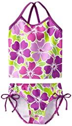Kanu Surf Little Girls\' Toddler Florence Tankini Swimsuit, Purple, 4T