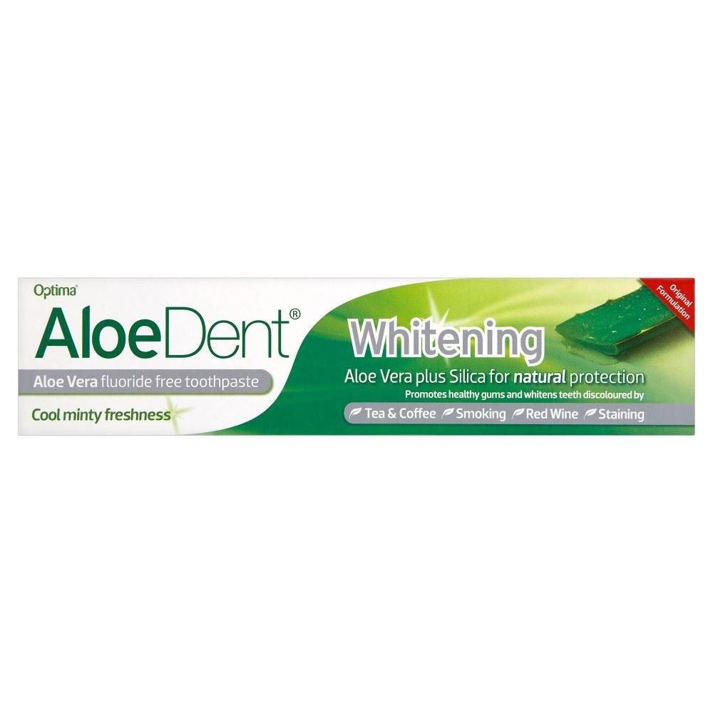 Optima Aloe Dent Whitening Toothpaste Tube (100ml) - Pack of 2