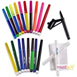 iMustbuy 20PC MAGIC PENS AMAZING COLOUR CHANGING PENS SET STENCILS BLOW PEN GIFT SET by iMustbuy
