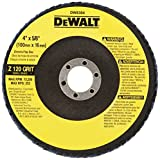 "DEWALT DW8304 4"" by 5/8"" 120 Grit Zirconia Angle Grinder Flap Disc"