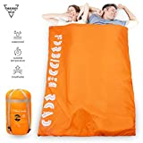 Forbidden Road Double Sleeping Bag 3 Season 15-Degree Waterproof Lightweight 2 Person Envelope Sleeping Bags with Free Carrying Bag Perfect for Spring Summer Fall Camping Backpacking Hiking