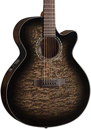 Mitchell MX420 Grand Auditorium Acoustic-Electric Guitar Midnight Black Finish