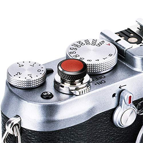 JJC Compatible Soft Shutter Release Button Cap for Fuji Fujifilm X-T3 XT3 X100F X-Pro2 X-Pro1 X-T2 X-E3 X-E2S X-T20 X-T10 X100T X100S X30 for Sony RX10 IV,RX10 III II,RX10,RX1R II,RX1 R,RX1 / B Brown